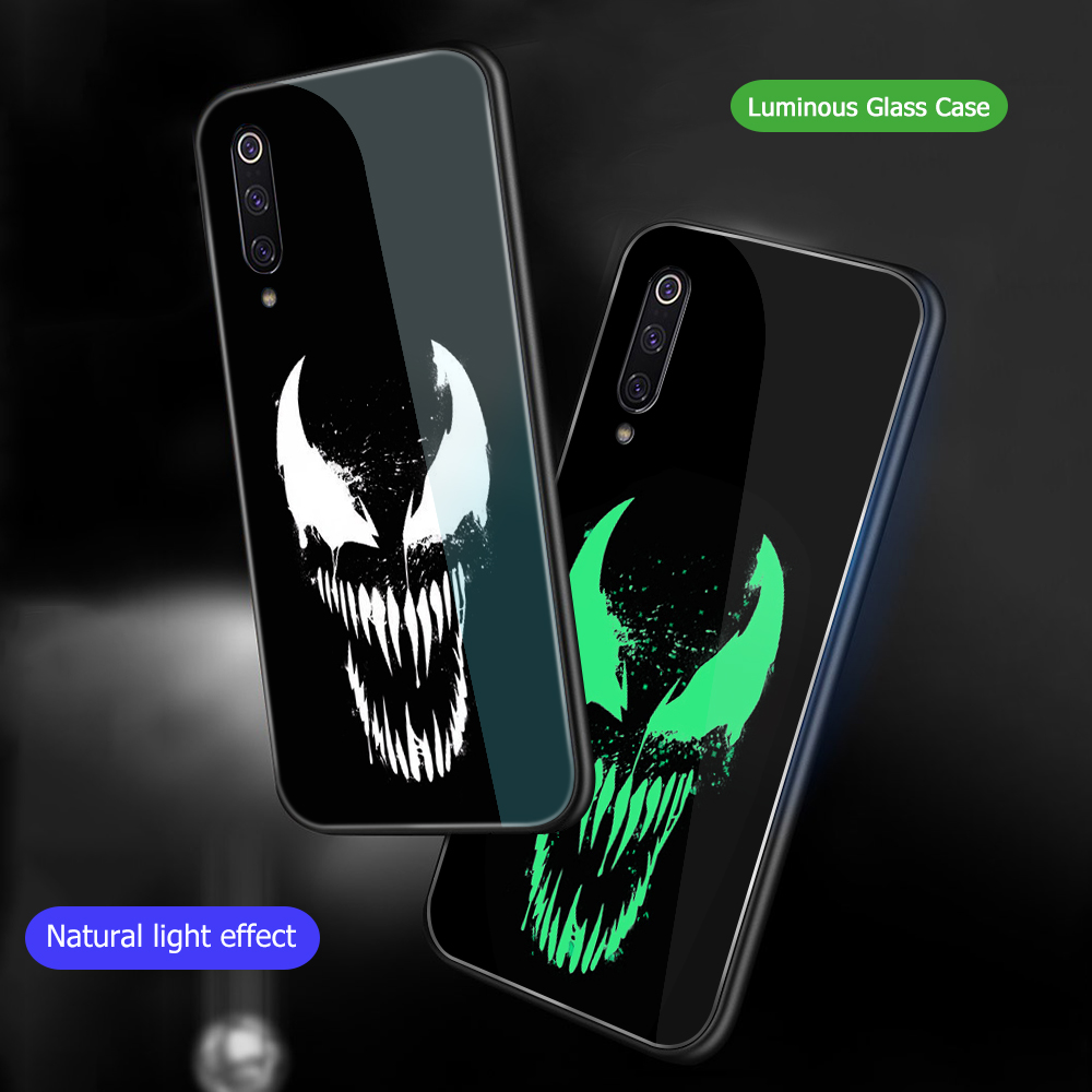 Image 3 - ciciber For Xiaomi MI 9 8 A2 6X MIX 2 2S PocoPhone F1 Glass Phone Cases for Redmi Note 7 6 5 Pro Plus Cover Coque Marvel Venom-in Fitted Cases from Cellphones & Telecommunications