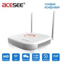 Acesee 9CH H.265 Wifi Mini NVR Onvif NVR Wifi Network Video ghi HDMI Digital Video Recorder cho CCTV 4 K IP Camera P2P 1 THDD