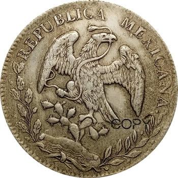 1882 Mexico 90% Silver Coin 8 Reales Mo Mh Copy Coins