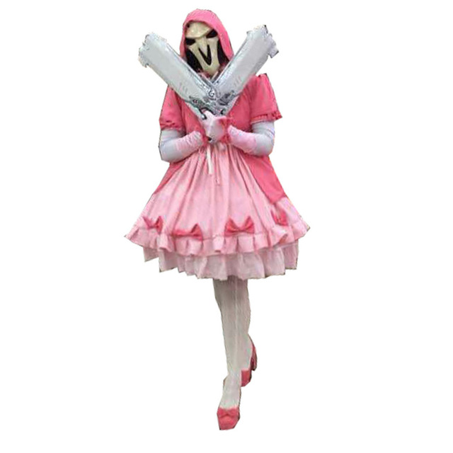 2017 OW Reaper Gabriel Reyes Pink Knight Cosplay Costume -in Anime ... 8af657c40e0d