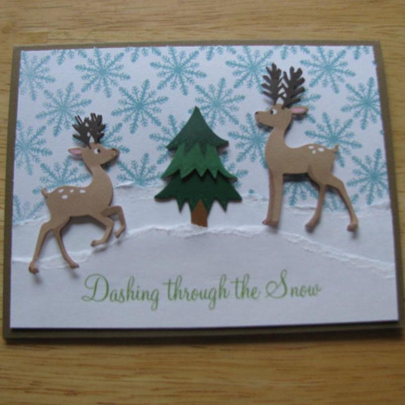 2018 New Sleigh Christmas Deer Stencil Metal Cutting Dies Cut Practice Hands On DIY Scrapbooking