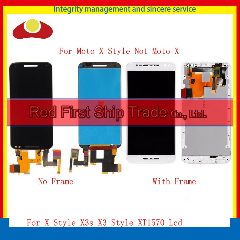 For Motorola Moto X Style X3s X3 Style XT1570 XT1572 XT1575 Full Lcd Display Touch Screen Digitizer Assembly Complete With Frame  5pcs lot for motorola moto x style x3s x3 style xt1570 lcd display touch screen digitizer assembly with frame free dhl