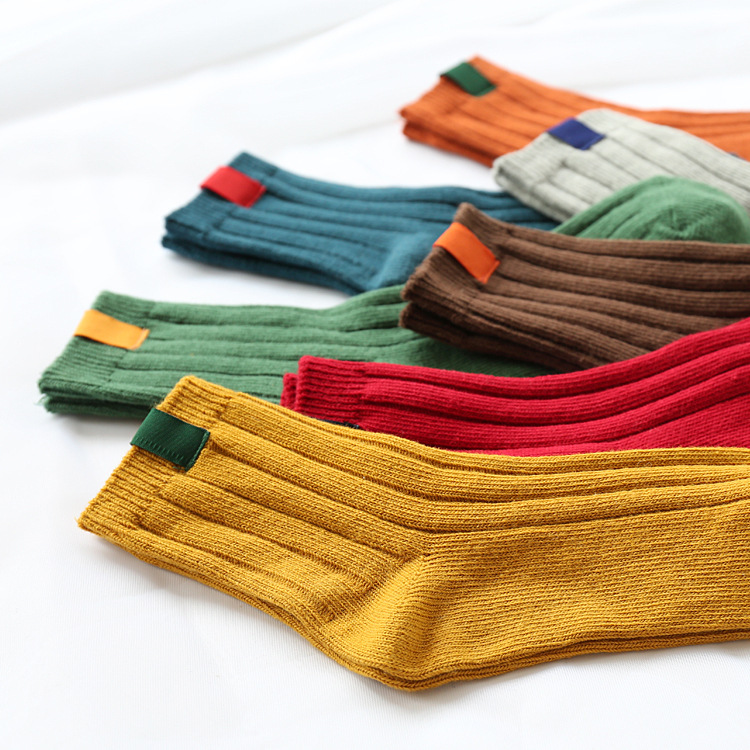 Women Socks Striped Autumn Winter Japanese Style Warm Christmas Winter Socks For Female Funny Socks Calcetines Meias