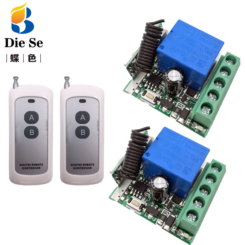433MHz Wireless Universal Remote Control DC 12V 1CH rf Relay Receiver and Transmitter for remote switch light/Bulb/LED/Kettle image