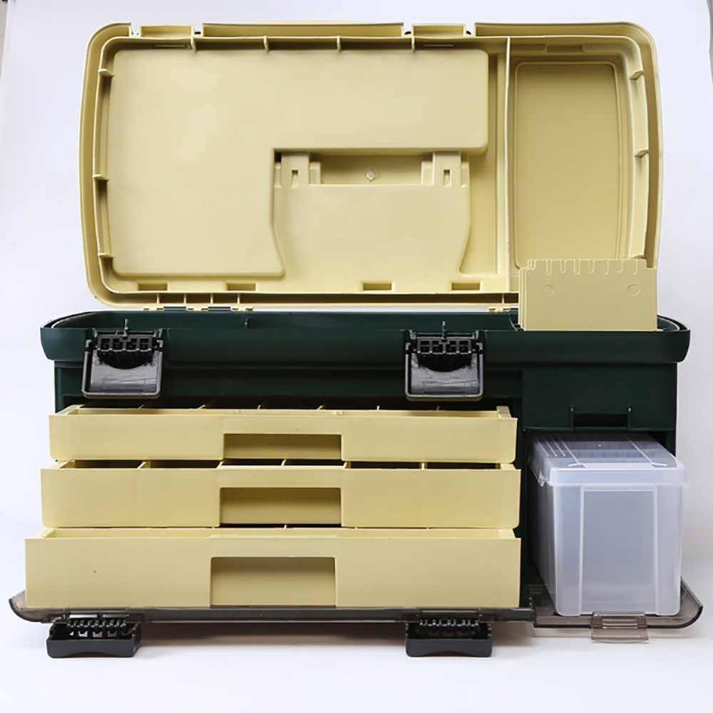 2pcs 550*300*300mm PP+PC+TPE Big Fishing Tackle Box High Quality TPE Handle Fishing Box Carp Fishing Tools Fishing Accessories - 5