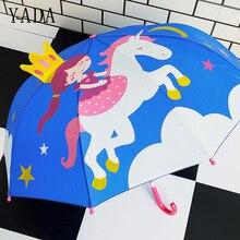 YADA New 2-7 Age High Quality 3D Child Cartoon Transparent Long Princess Umbrella Sun Rainy Boys Girls Kids Tools YD057