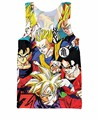 Dragon Ball Z Tank Top Goku characters Gohan 3d Tank Tops Fashion Clothing Vest Jersey Summer Style Women Men Tees Plus Size