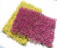 2pcs/lot 60*40cm Artificial Plastic Yellow/Purple Flowers Lawn For Wedding Home Office Decoration