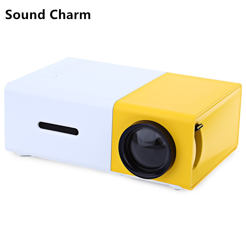 Sound Charm YG300 Mini LED Video Portable Home Protector With HDMI USB Audio TF Card Ports