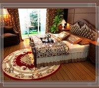 Лидер продаж лохматый круглый ковры для гостиной и области красный Ванная комната Спальня S Кухня коврик, ковер де Сала
