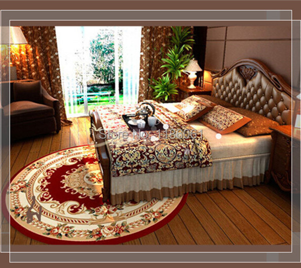 Hot Sale Shaggy Round Carpet For Livingroom and Area Red Rug of Bathroom Bedroom Carpets Kitchen