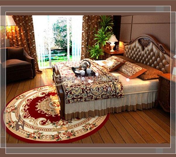 Venta caliente Shaggy Alfombra Redonda Para Sala de Estar y Área de Cocina Estera Alfombra de Baño Alfombras De Dormitorio Rojo Tapetes De Sala