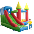 New Design Bouncy Castle Inflatable Trampoline With Inflatable Slide Area To Play And Blower Free Shipping