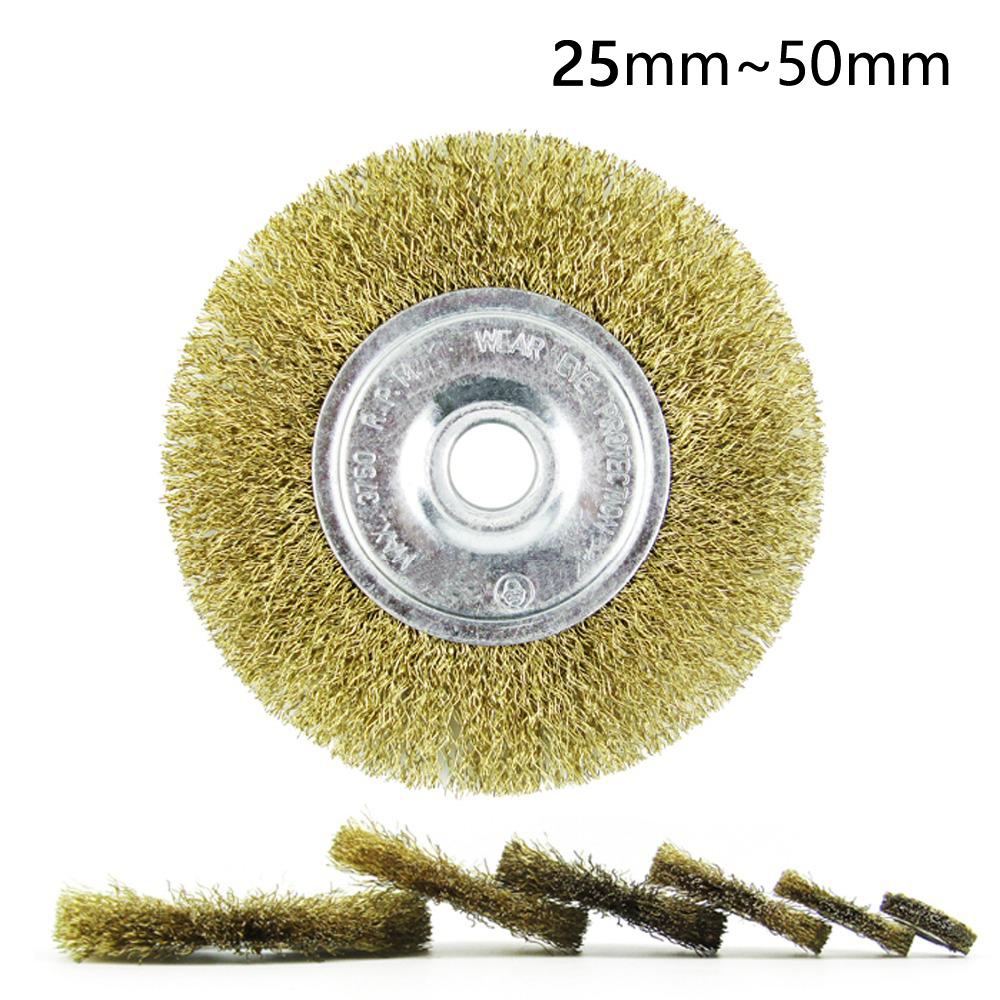 1pc 25-50mm Petiole Wire Rust Grinding Polishing Accessories Wire Wheel Brush For Rotary Tool Electric Abrasive Tools