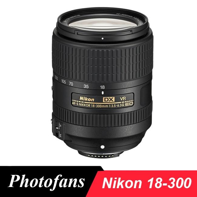 Nikon 18-300 объектив AF Nikkor-S DX 18-300 мм f/3.5-6.3 г ED VR Оптические стёкла для D3400 D3200 D3300 D5500 D5200 D5300 d5600 d7200 D7100 D500
