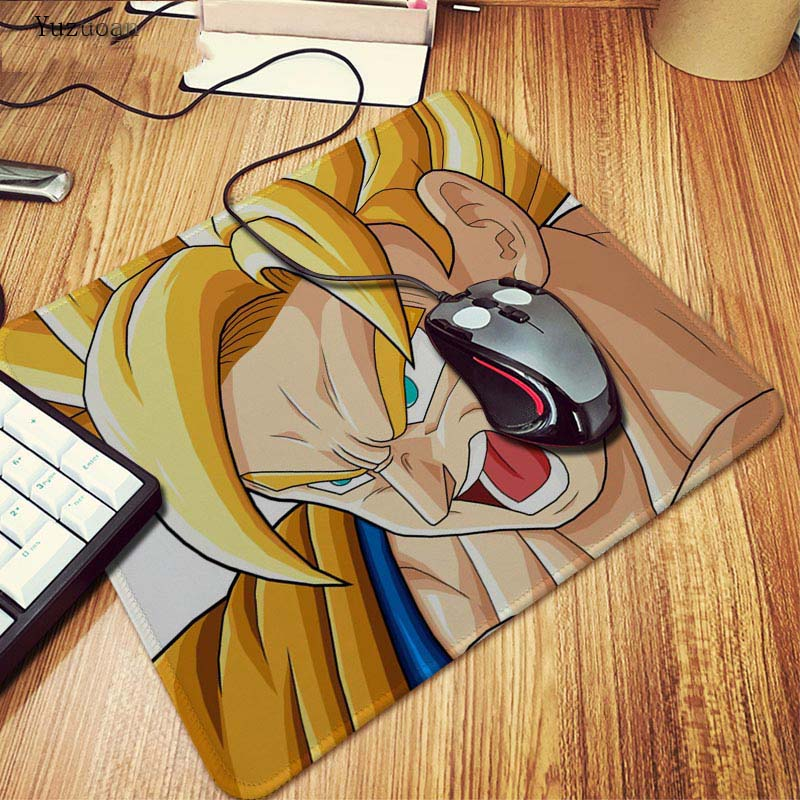 Yuzuoan Strong Dragon Ball Funny 180X220X2MM 250X290X2MM Rectangel Mouse Pad Mat Gaming Mouse pad For Dragon Ball Lock Edge