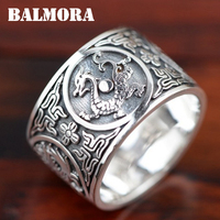 Crystmas Gift 100 Real Pure 925 Sterling Silver Ring Silver 925 Mythical Creatures Ring Silver Jewelry