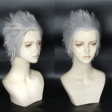 MOCODAR Devil May Cry 5 Vergil Halloween Cosplay Costume Hair Game Short Silver Grey