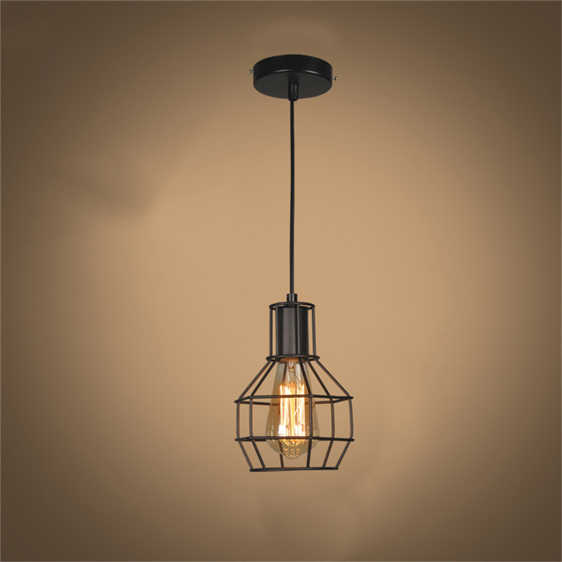 Retro lamp shades industry metal pendant lamps holder vintage retro lamp shades industry metal pendant lamps holder vintage style iron hanging light shade edison bulb covers drop shipping in lamp covers shades from mozeypictures Gallery