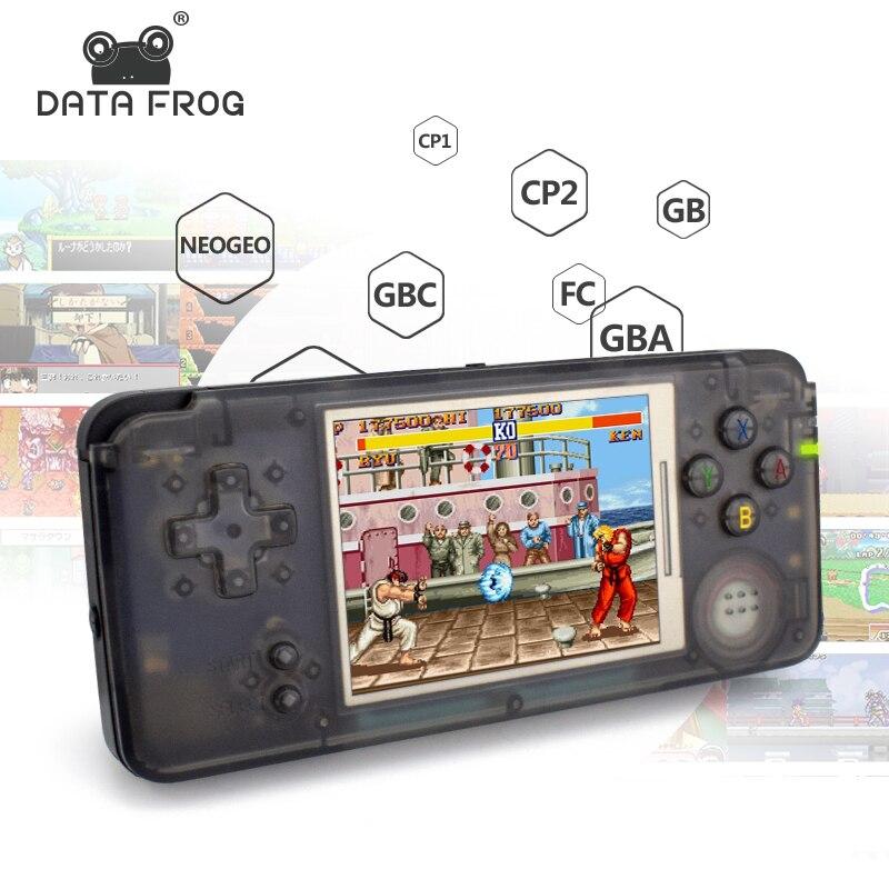 Daten Frosch Retro Handheld Spielkonsole 3,0 zoll Konsole Eingebaute 3000 Klassische Spiele Unterstützung Für GBA/NEOGEO/CP1 /CP2