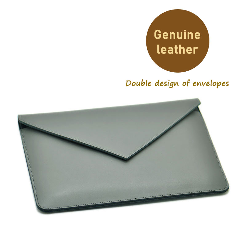 Envelope Laptop Bag super slim sleeve pouch cover,Genuine leather laptop sleeve case for Lenovo Yoga 720 730 13/15 laptop sleeve genuine leather black gray laptop sleeve 11 12 13 14 15 notebook cover for xiaomi air 3 lenovo yoga dell laptops