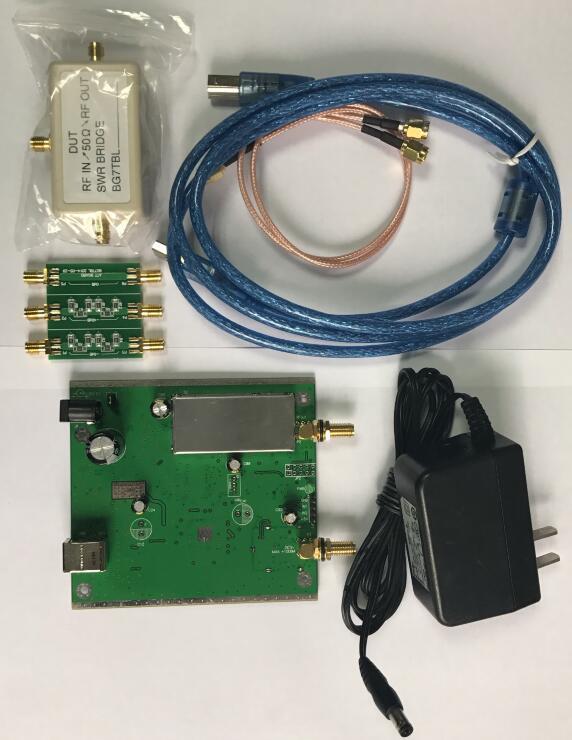 bilder für Neue NWT500 0,1 MHz-550 MHz USB Sweep analyzer + dämpfer + SWR brücke + SMA Kabel