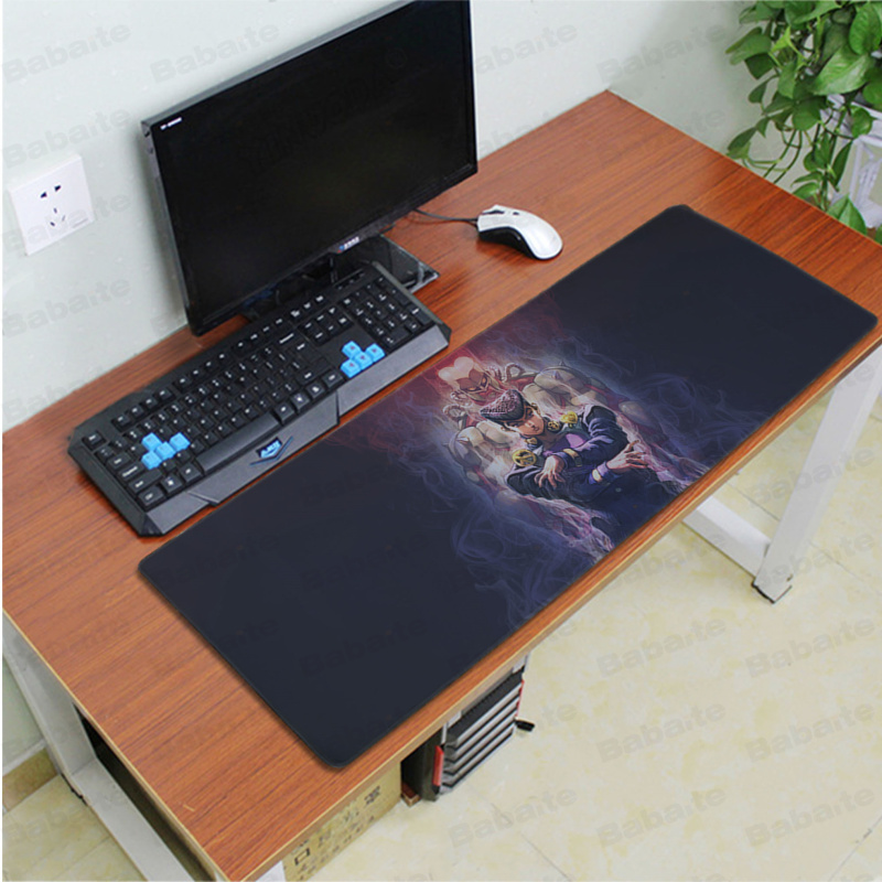 Babaite Custom Skin JoJo 39 s wonderful adventure Locking Edge Mouse Pad Game Free Shipping Large Mouse Pad Keyboards Mat in Mouse Pads from Computer amp Office