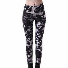 2017 New Women's Black Milk Workout Leggings Plus size Crow Printed Fitness Pants Female Leggins Slim Sexy Jeggings Trousers 4XL
