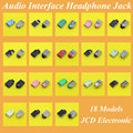 18 modelos, conector de micrófono interfaz de audio portátil de audio jack hembra para acer asus lenovo hp dell toshiba samsung sony