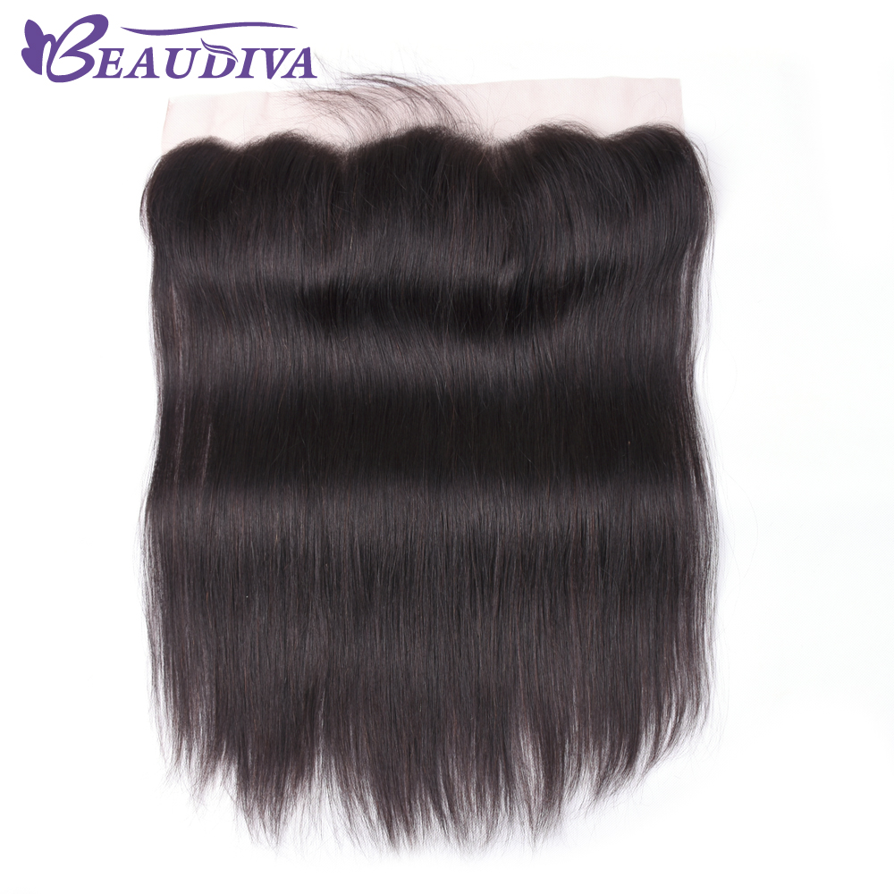 Beaudiva 4 X 4 Brazilian Closure Straight Human Hair Free/Middle/Three Part 100% Remy Lace Closure 8-22 Inch Natural Color