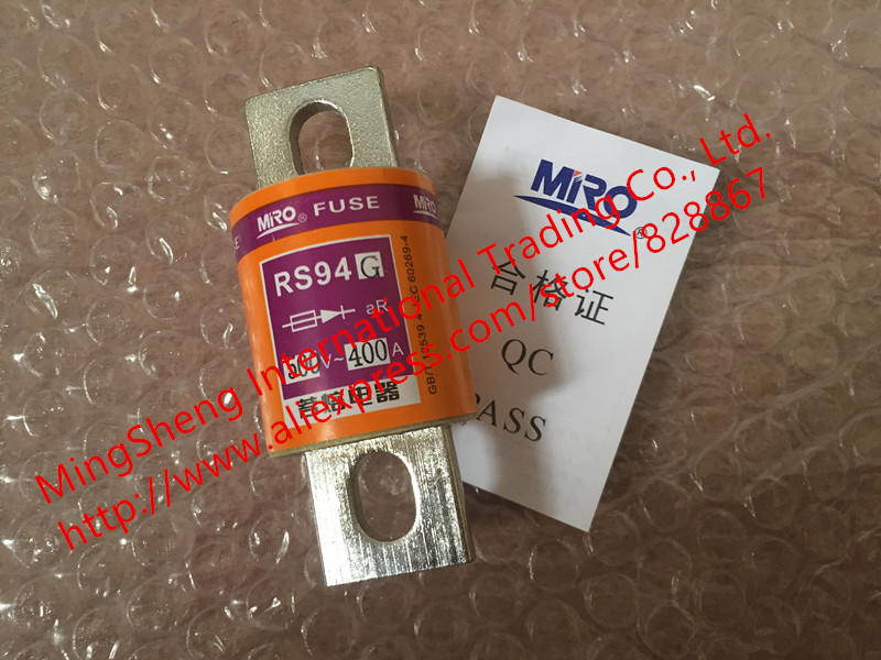 Original new 100% round tube bolt type fast fuse 200A 250A 300A 315A 350A 400A 500V RS94G цена