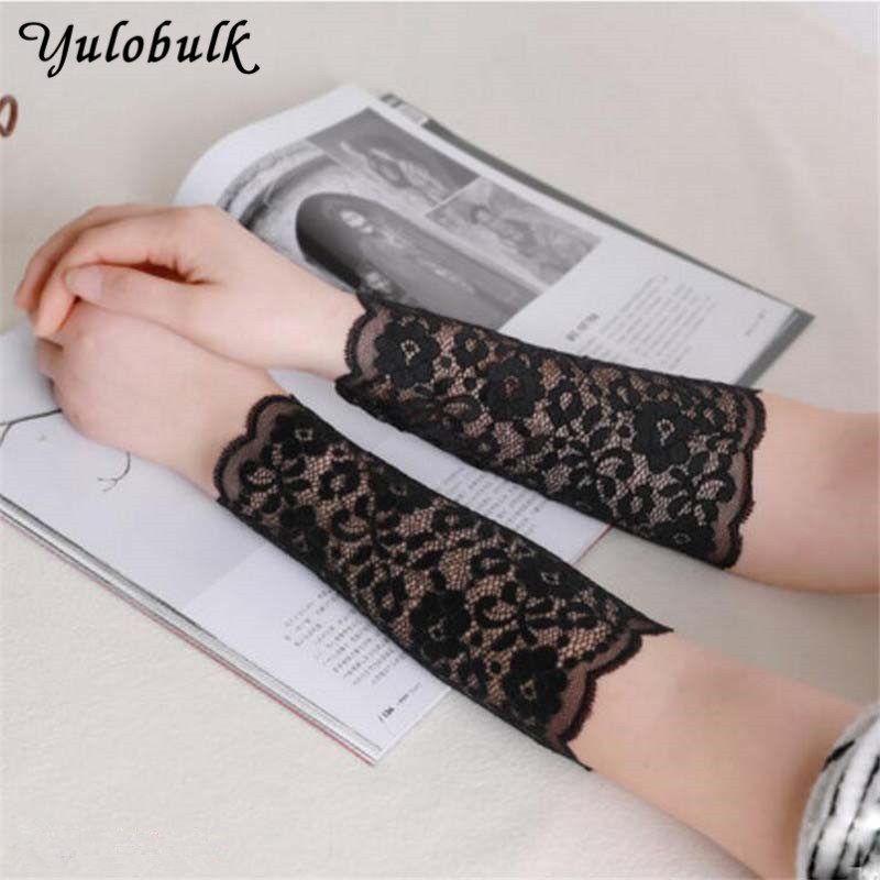 Lady Summer Lace Arm Sleeves Apparel Accessories Women Arm Warmer Tattoo Scar Cover Female Driving Gloves Sun UV Anti Arm Sleeve