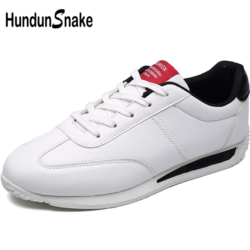 Hundunsnake Leather White Women's Running Shoes For Women Sport Sneakers Men Sport Shoes Female Women's Sports Shoes Ladies T618