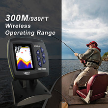 Lucky Brand Fish Finder Wireless Remote Control Fish Finder Boat 300m/980ft Wireless Operating Range Carp Fishing FF918-CWL