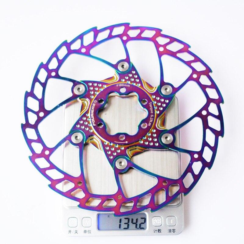 FOURIERS VTT VTT route vélo flottant rotor de frein à disque 140 160 180 203mm six trous disques - 6