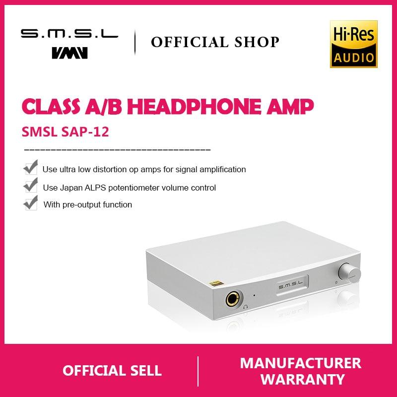 Amplificateur de casque SMSL SAP-12 Hifi classe A/B amplificateur de puissance Audio Portable amplificateur de casque 6.35mm avec DAC M8A