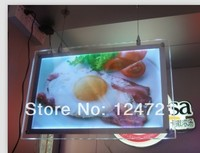 2015 new a1 size led backlit acrylic panels crystal lightbox/haning frame for the restaurant menu