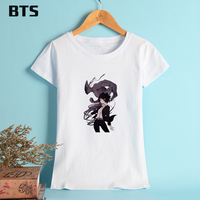 BTS Ajin T-shirt Women Short Sleeve Basic Woman Tshirt Top Anime Pattern Tees And Tops For Female Soft Cotton Clothes XL