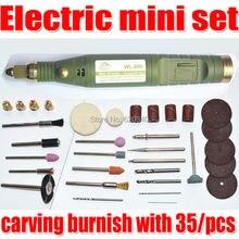 Herramientas gratuitas Envío Eléctricos, Mini Taladro, talla bruñido con 35/pcs Multifunción máquina de Grabado mini Eléctrico conjunto