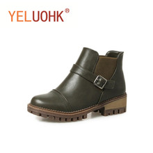 34-44 Ankle Boots For Women Winter Boots Plush Warm Winter Shoes Women Plus Size