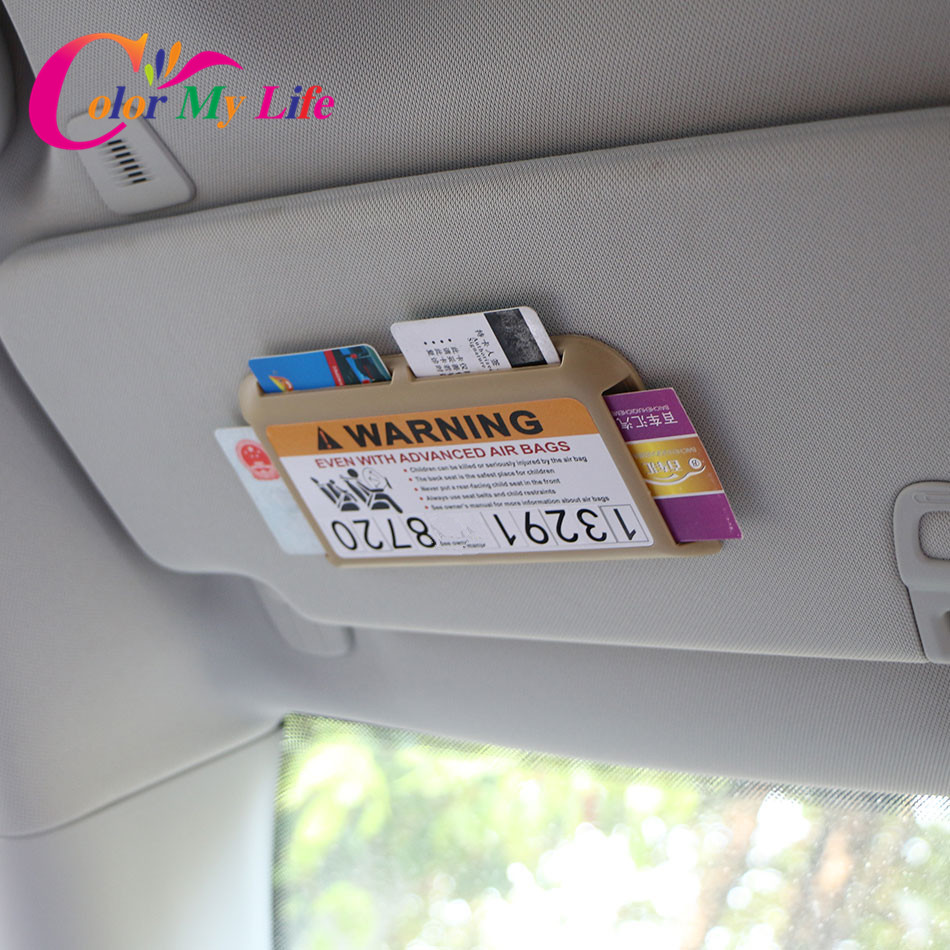 Color My Life Car Card Holder Slot Sun Visor Organizer Plate Holder for font b Fiat