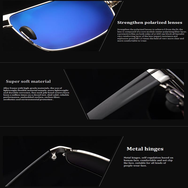 Товар 2016 Hombre Polaroid Sunglasses Men Polarized Driving Sun ... abe5c314c9