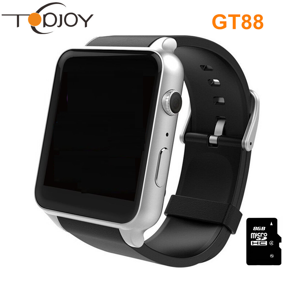 KingWear GT88 Smart Watch Inteligente Relogios Pedometer Health Montre SIM TF Card Bluetooth SmartWatch For IOS Android Phone