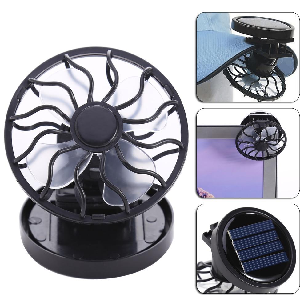 New Portable Sun Solar Powered Cooling Fan Clip On Mini