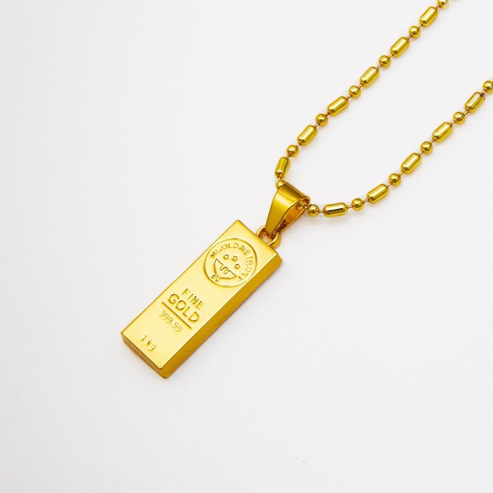 Golden iced out bar shape pendant hip hop beads link chain necklaces golden iced out bar shape pendant hip hop beads link chain necklaces mens jewelry in pendant necklaces from jewelry accessories on aliexpress aloadofball Gallery