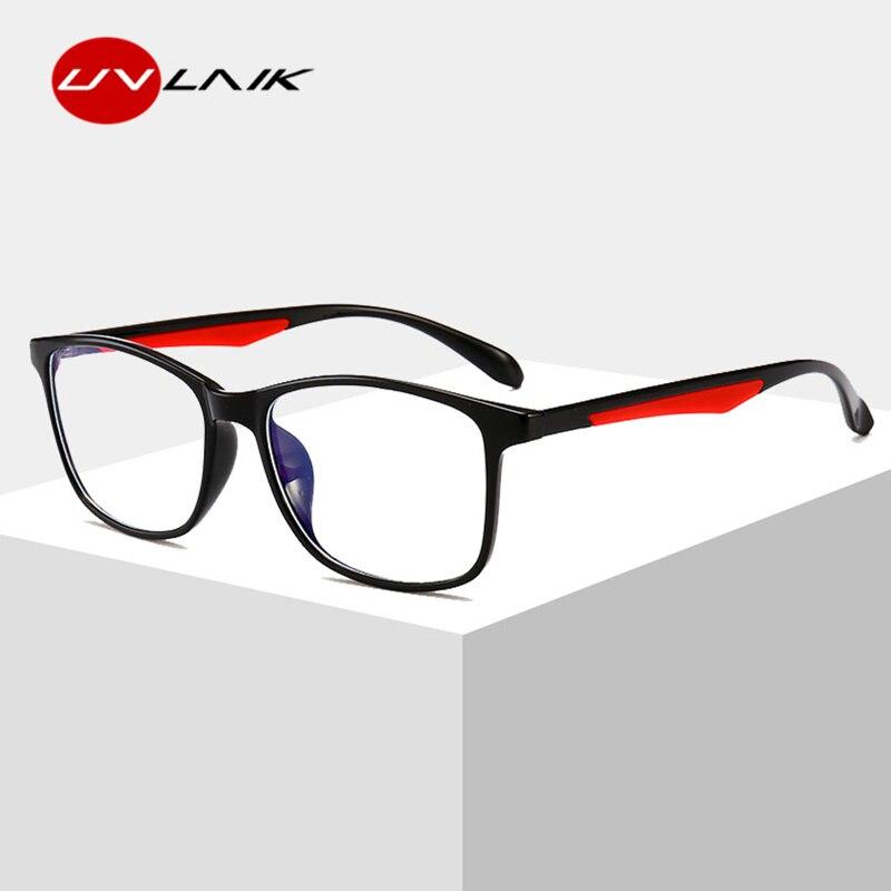 UVLAIK Anti Blue Light Blocking Glasses Men Filter Reduces Digital Eye Strain Clear Lens Computer Gaming Glasses Improve Comfort blue light blocking glasses