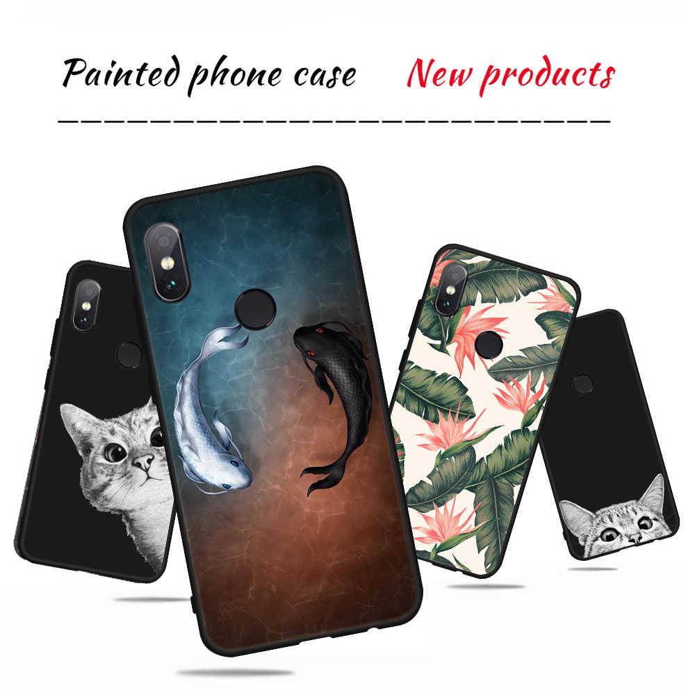 Cubierta elegante del teléfono del patrón de la rosa de los gatos para Xiaomi mi 8 SE Pocophone F1 mi A1 A2 Lite Redmi 6 Pro 6A nota 4X4 5X5 5A Coque Capa
