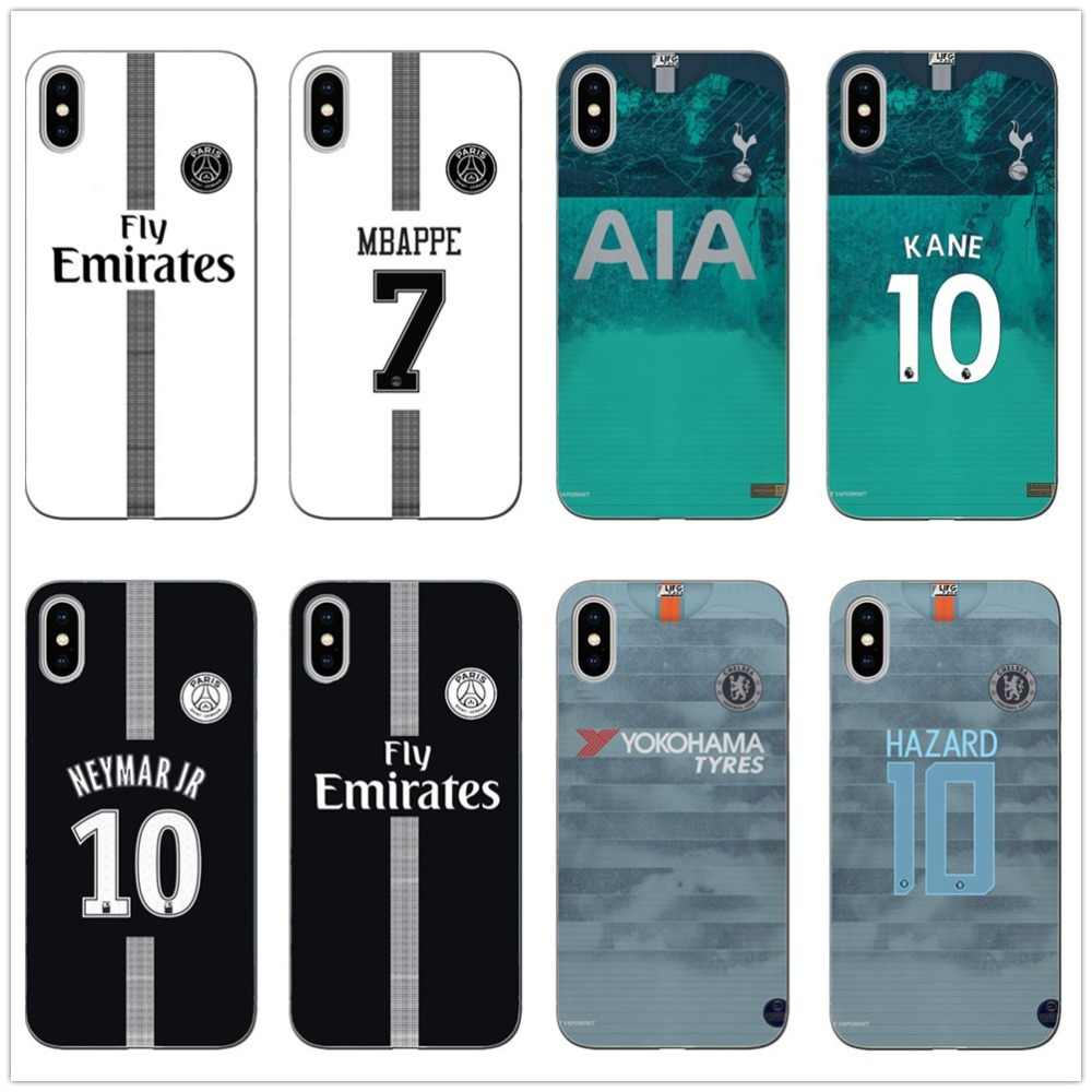 59ef2e4d034 soccer 18/19 Cristiano Ronaldo Neymar jersey Soft Silicone Transparent  Phone Case For iPhone X