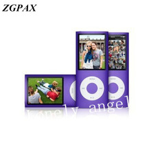 ZGPAX 10pcs/lot slim 4th mp4 player 8GB 9 Colors for choose Music playing time 30Hours fm radio video player Free shipping