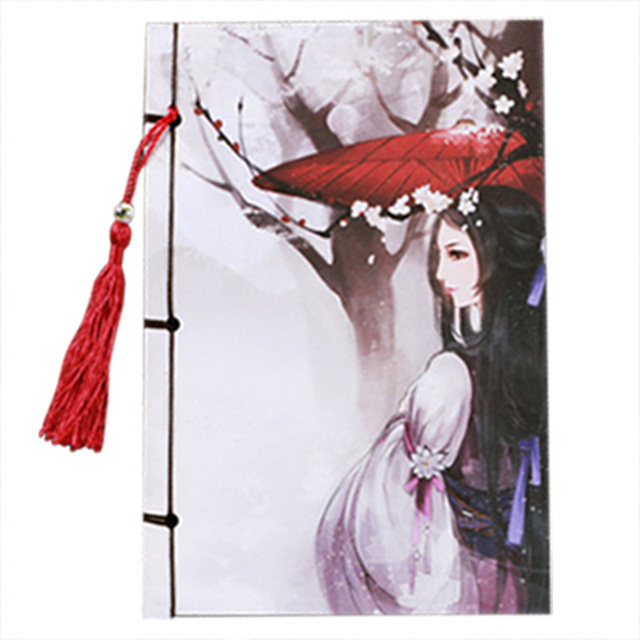 ofss handcrafted 208x140mm chinese style tassel notepad vintage